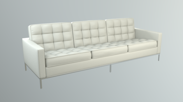 Florence Knoll Sofa made in Blender