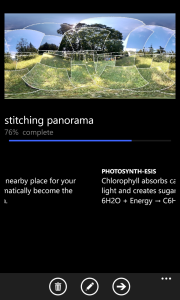 Photosynth is stiching the photos